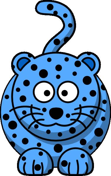 378x598 Blue Leopard Clip Art