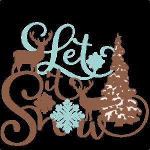 300x300 Let It Snow Phrase Winter Scene Miss Kate Cuttables