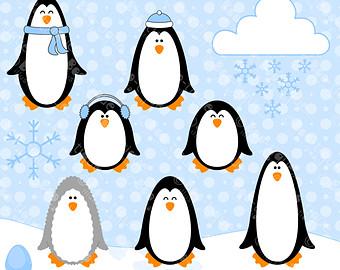340x270 Snow Penguin Clip Art