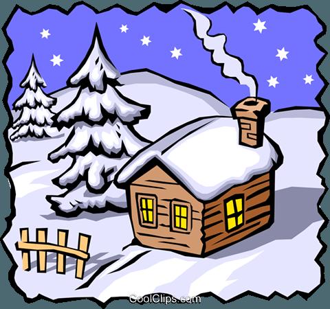 480x450 Winter Scenes Royalty Free Vector Clip Art Illustration Even0409