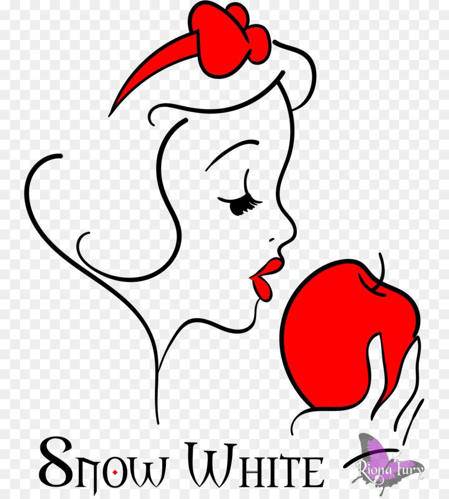 900x1000 Snow White Seven Dwarfs Drawing Apple Clip Art