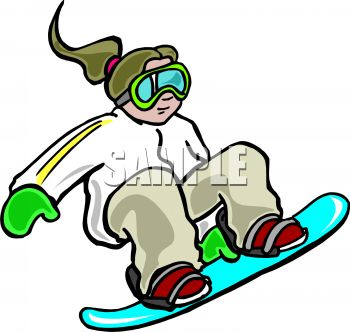 350x332 Kid Riding A Snowboard Wearing Goggles