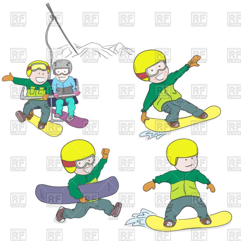 800x800 Kids Riding Snowboard