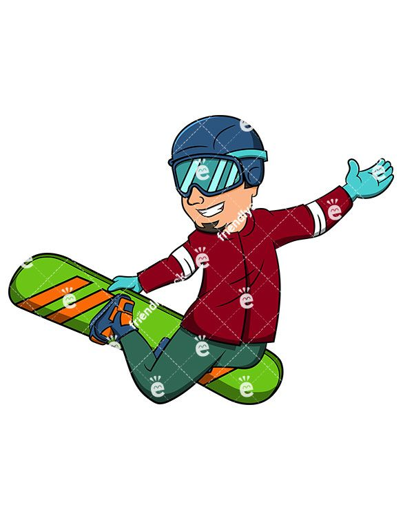 585x755 Man Performing Stalefish With Snowboard Cartoon Vector Clipart