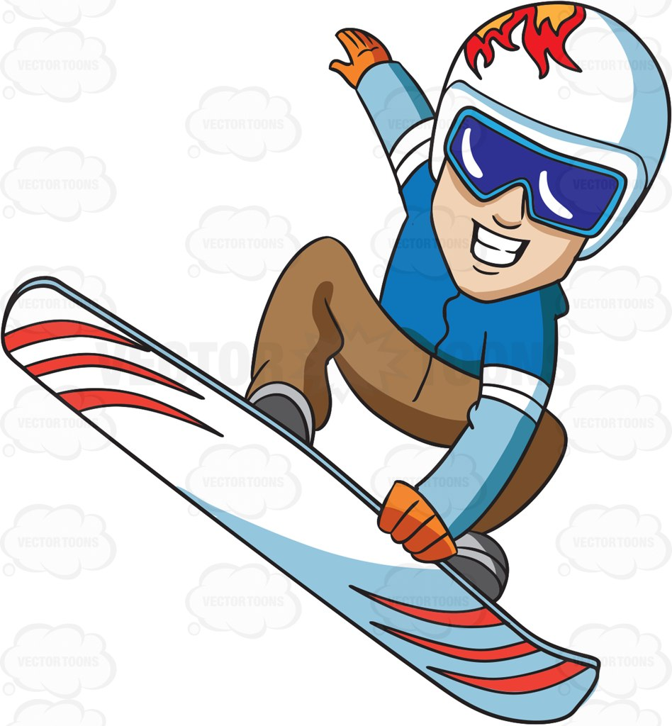 948x1024 A Snowboarder Flies Up In The Air Cartoon Clipart Vector Toons