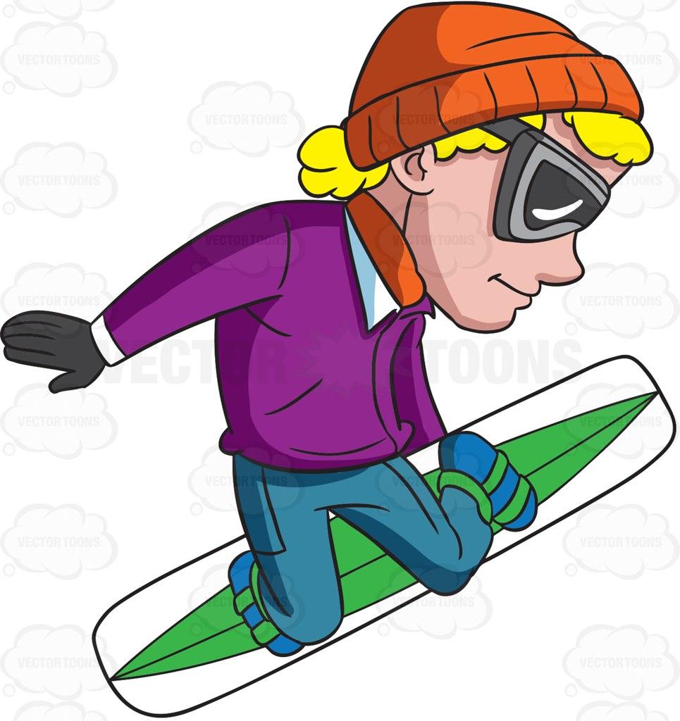 965x1024 A Snowboarder On Mid Flight Cartoon Clipart Vector Toons