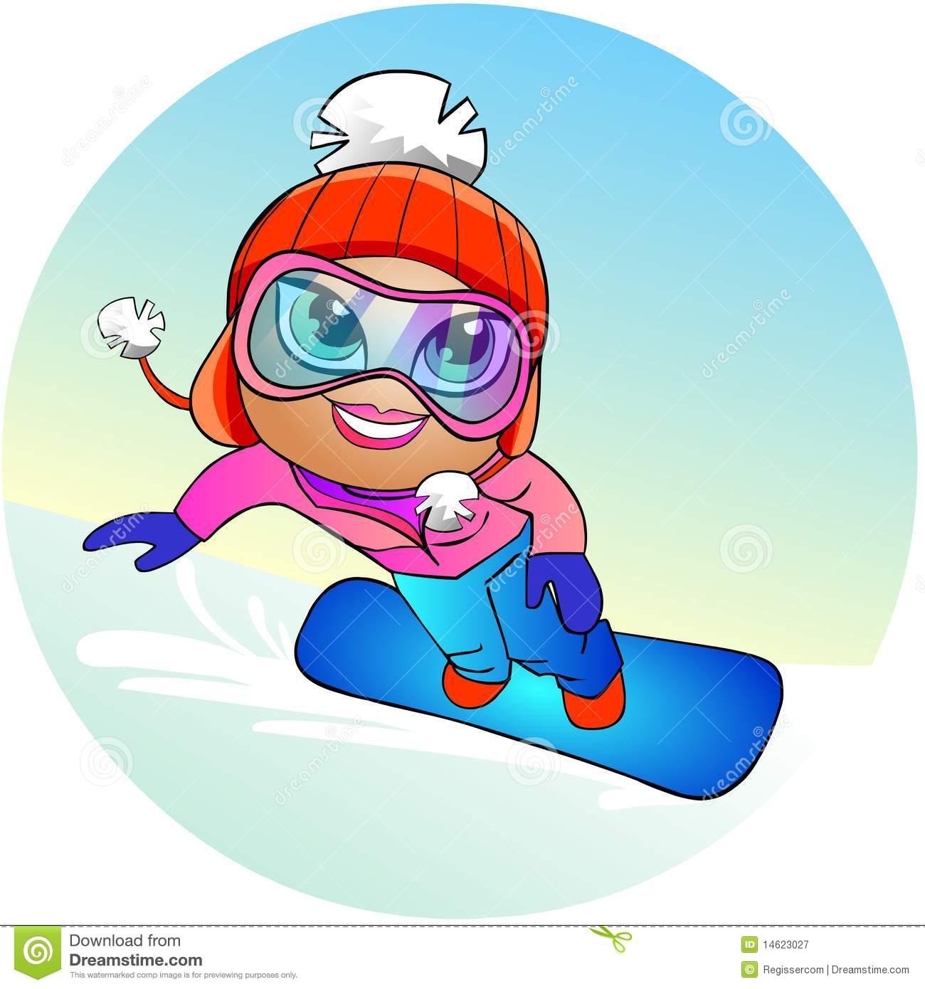 1300x1390 Snowboarding Girl Clipart