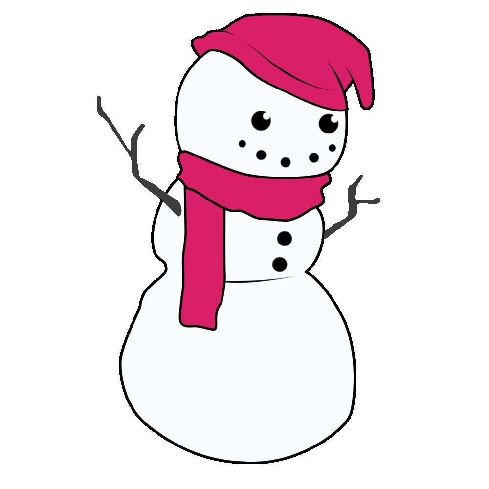 1000x1000 Cute Snowflake Clipart Snowman Free Funny Unbelievable