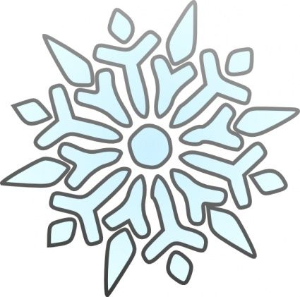 425x421 Download Erik Single Snowflake Clip Art Vector Free Christmas
