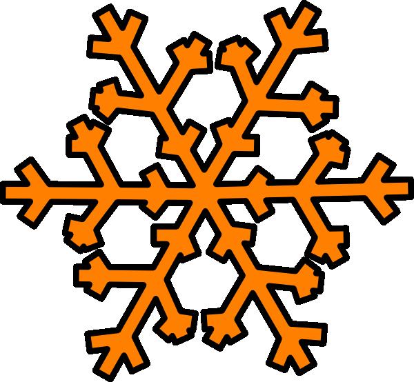 600x554 Orange Snowflake Clip Art