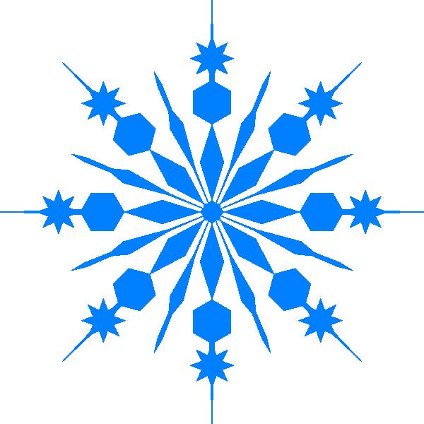 600x600 Simple Blue Snowflake Clipart Snowflake Clip Art Vector