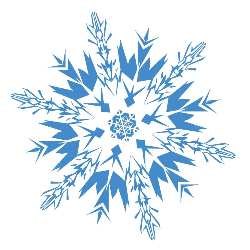 800x800 Collection Of Snowflake Clipart Transparent Background High