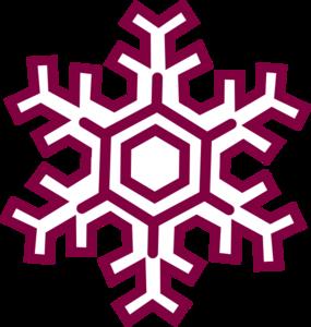 285x300 Burgundy Snowflake Clipart Clip Art