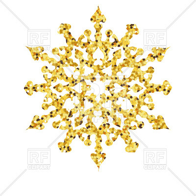 400x400 New Snowflake Border Clipart Christmas Gold Card With Snowflake