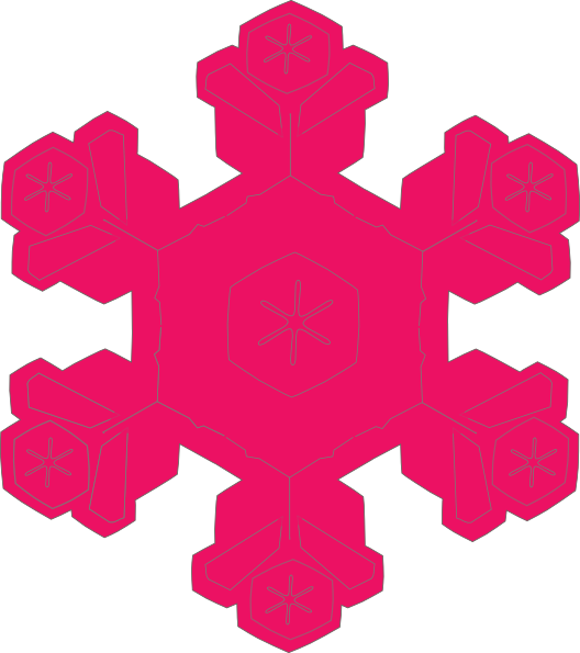 528x595 Pretty Snowflake Clipart
