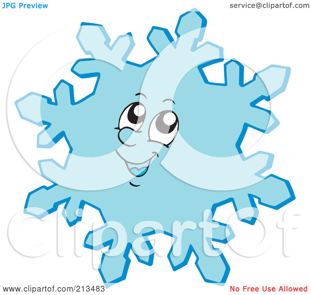 1080x1024 Royalty Free (Rf) Clipart Illustration Of A Smiling Blue Snowflake