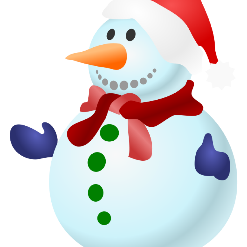 1024x1024 Project Ideas Snowmen Clipart Smiling Clip Art Isolated Stock