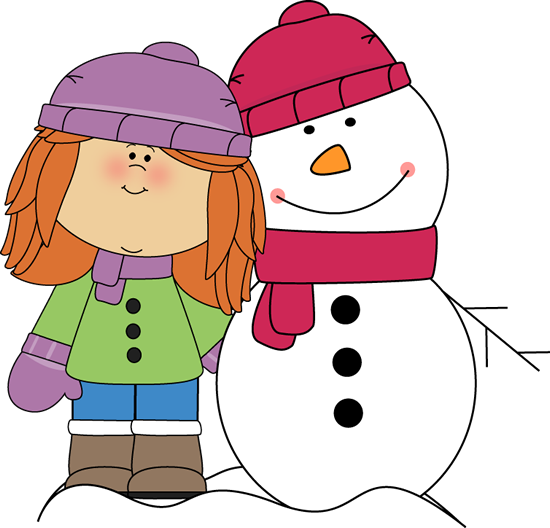 550x528 Girl With Arm Around Snowman Snowman Penguins Winter Teaching