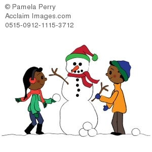 300x300 Children Making A Snowman Clipart Amp Stock Photography Acclaim Images