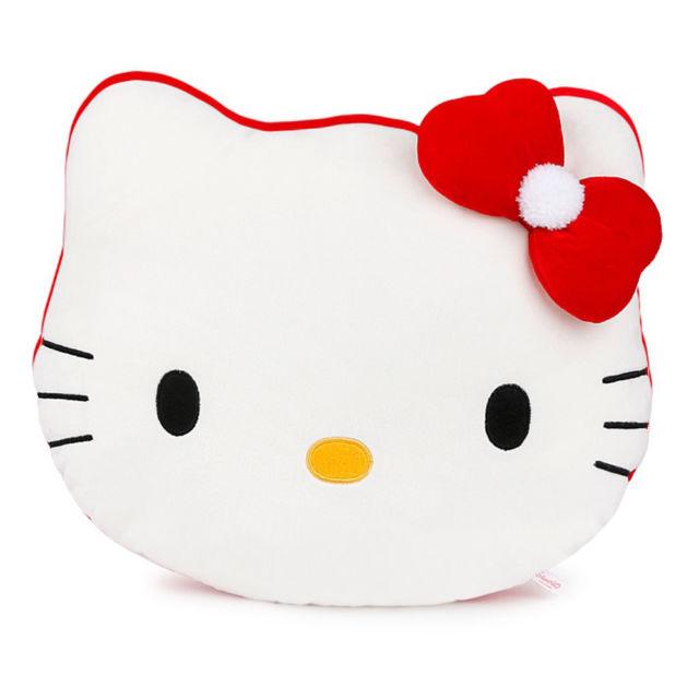 640x640 Sanrio Cat Hello Kitty Snowman Face Cushion 36cm 14n Plush Toy