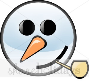 300x280 Snowman Face With Corncob Pipe Snowman Clipart