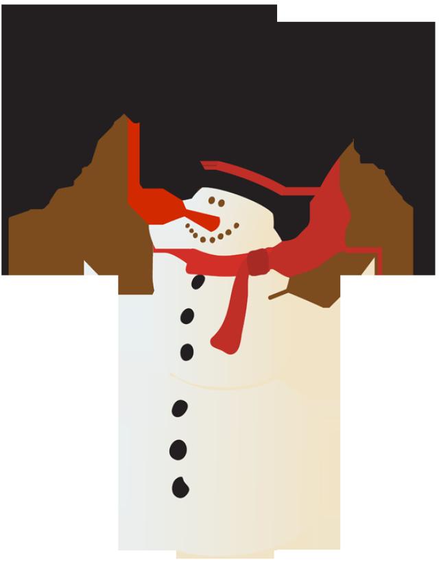 640x823 Christmas Snowman Clipart