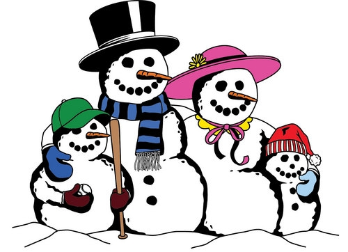 500x362 28 Collection Of Christmas Snowman Family Clipart High Quality
