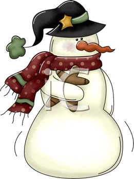 261x350 Royalty Free Clipart Image Rustic Christmas Design Of A Snowman