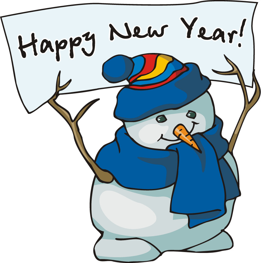 858x864 2014 Happy New Year Snowman Clip Art For Preschoolers