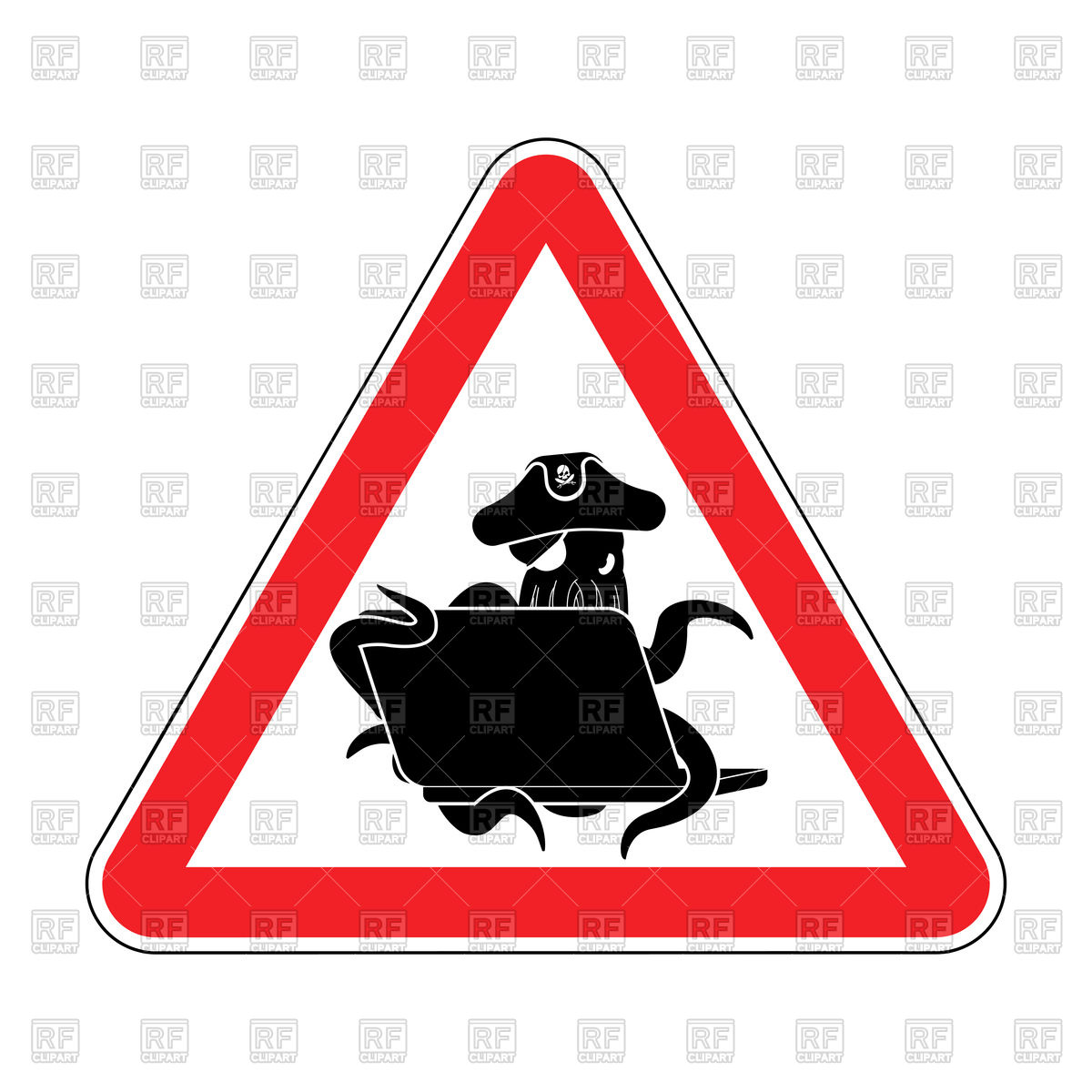 1200x1200 Attention Sign Of Web Pirate