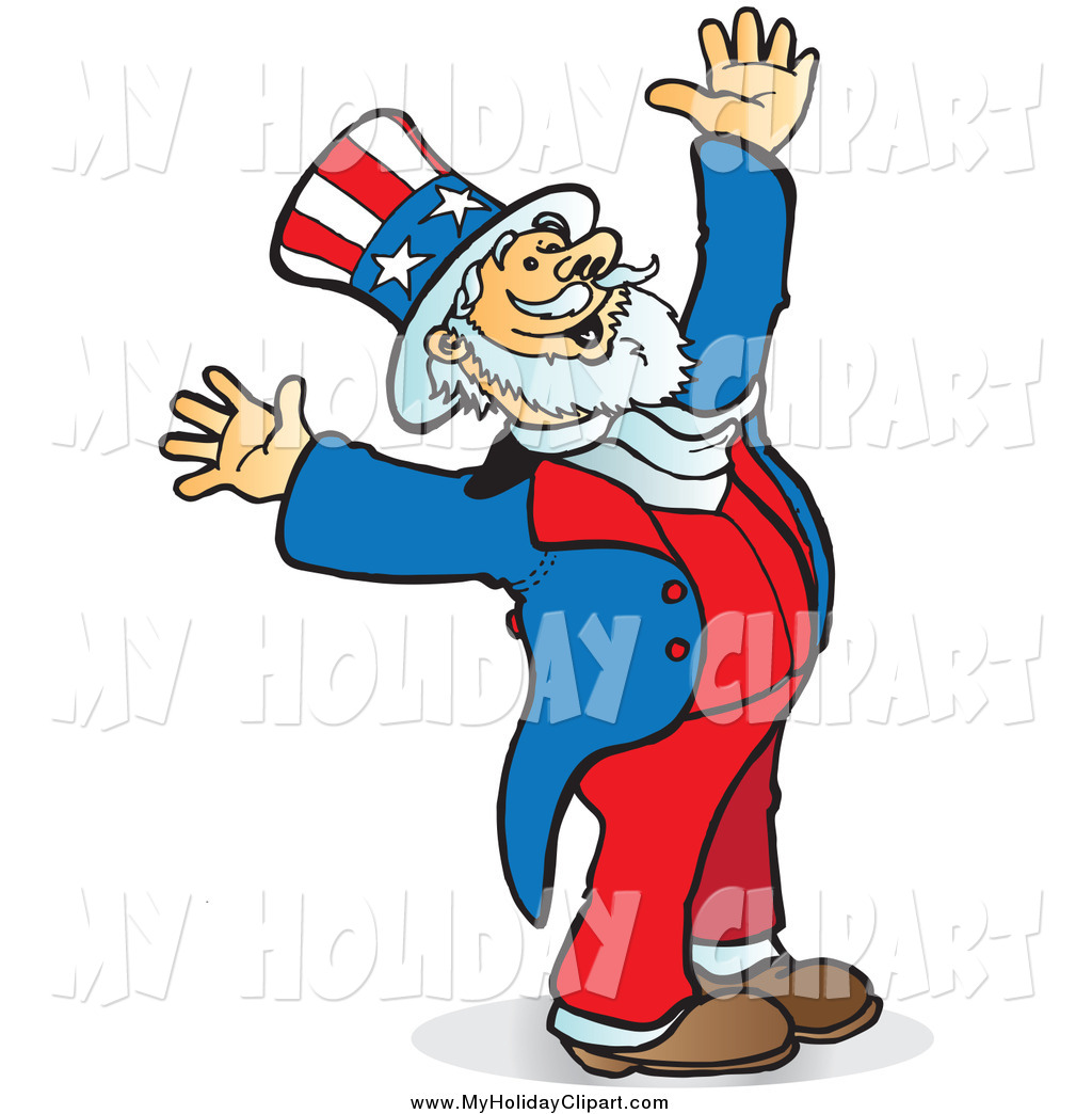 1024x1044 Clip Art Of A Uncle Sam Looking Upwards And Holding His Arms Up
