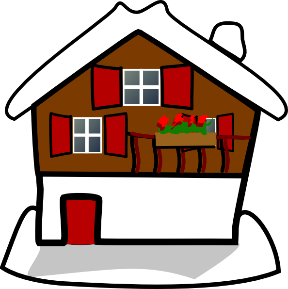 594x596 House Covered In Snow Clip Art At Clker Com Vector