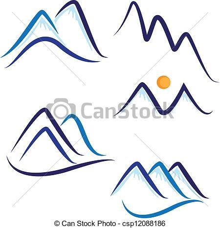 450x466 Snowy Mountain Clip Art Clipart Panda