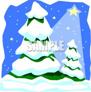 297x300 Clip Art Image Snow Covered Christmas Trees