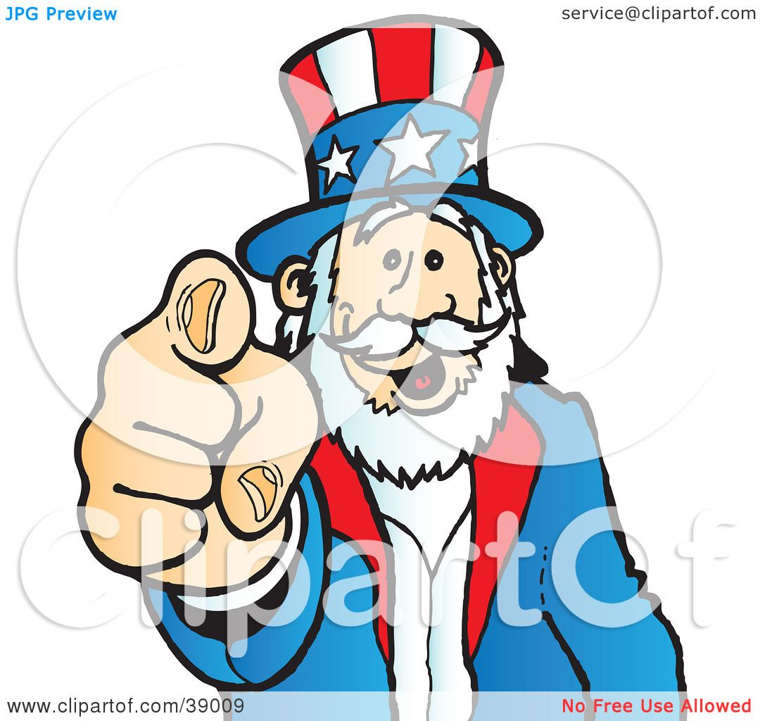 1080x1024 Clipart Illustration Of Uncle Sam Grinning And Pointing Outwards