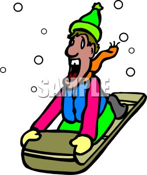 294x350 Picture Of Man Screamings He Sleds Down Snowy Hill In