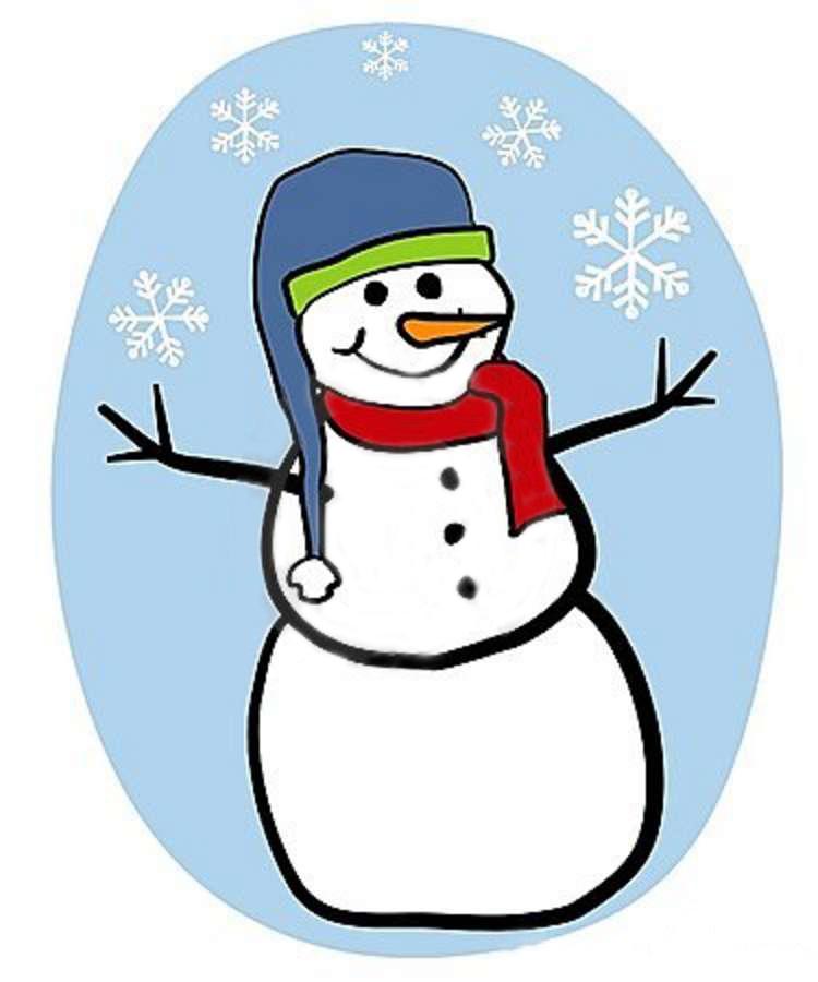 750x900 School Snowman Cliparts