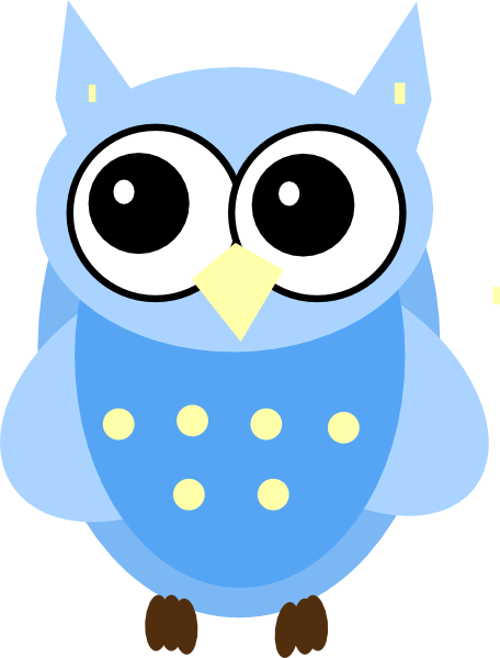 456x599 Owl Clip Art Black And White Blue Baby Owl Clip Art Owls