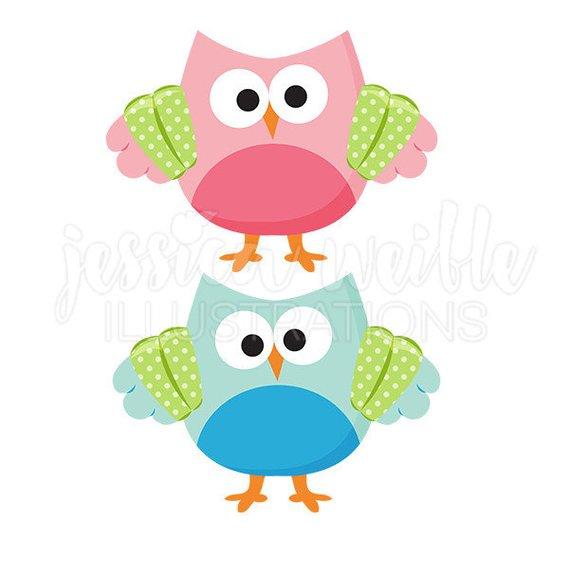 570x570 Swimmer Owl Cute Digital Clipart, Summer Swim Owl Clip Art, Owl