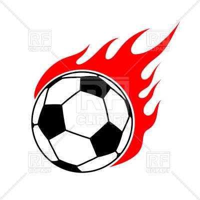 400x400 Fire Soccer Ball Royalty Free Vector Clip Art Image