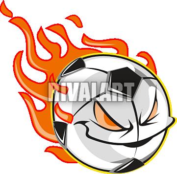 361x356 Flaming Soccer Ball Clipart