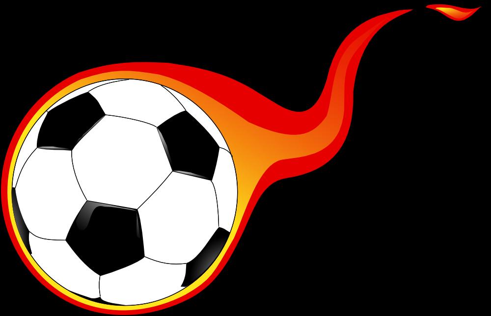 1000x644 Flaming Soccer Ball Clip Art