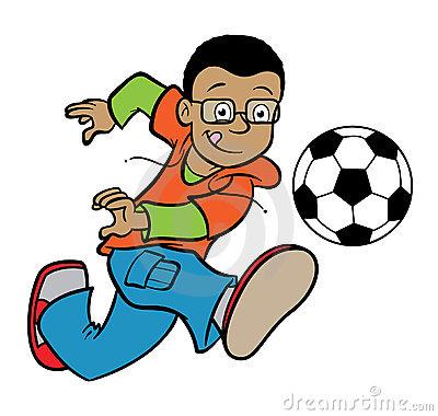 400x380 Kicking Soccer Ball Clipart
