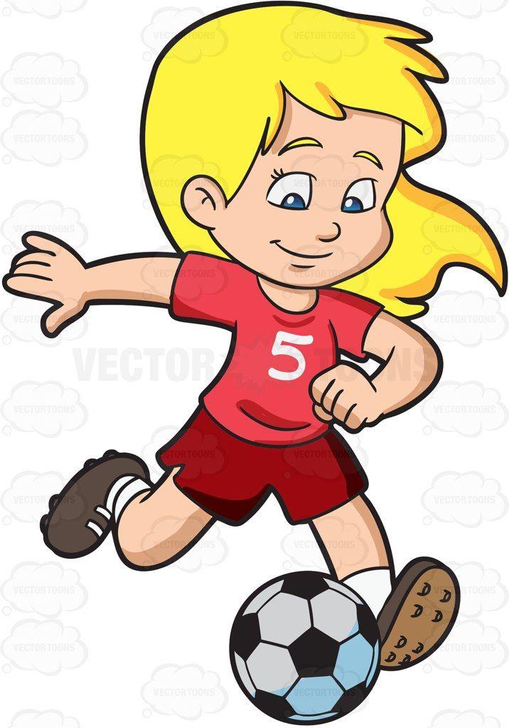 716x1024 A Girl Kicking A Soccer Ball Soccer Ball, Clip Art And Commercial