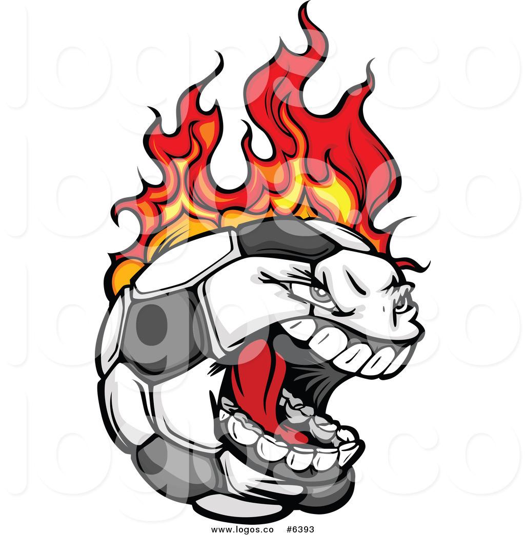 1024x1044 Royalty Free Clip Art Vector Logo Of A Screaming Soccer Ball