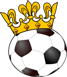 261x298 Soccer Ball With Crown Clip Art