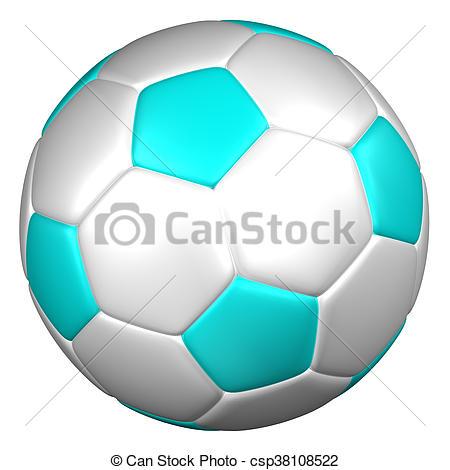 450x470 Soccer Ball. 3d Rendering. Soccer Ball, Isolated On White Clip
