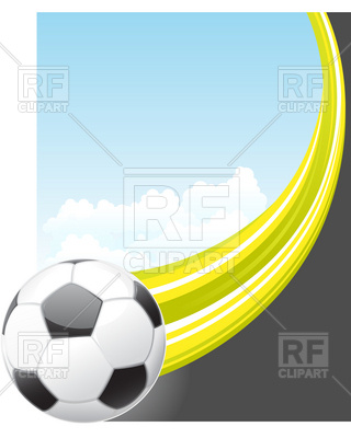 320x400 Soccer Poster With Ball Royalty Free Vector Clip Art Image