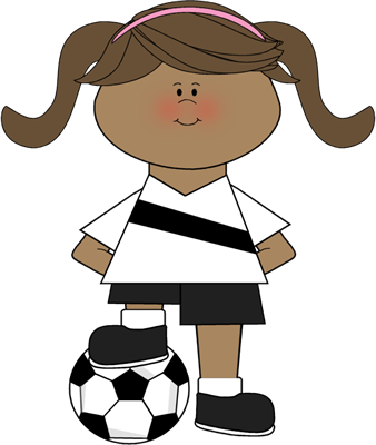 338x400 Voetbal Meisje Thema Sporten Bewegen Soccer Ball