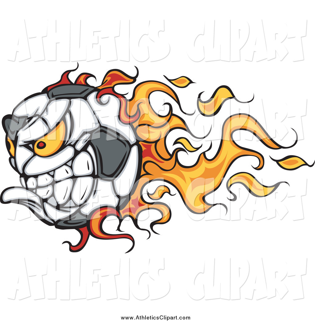 1024x1044 Clip Art Of A Flaming Angry Soccer Ball Character By Chromaco
